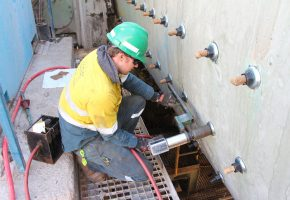 Torquing up bolts on Ball Mill
