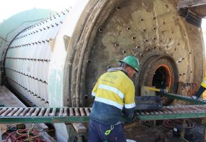 Installing new liners on Ball Mill