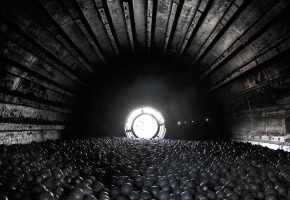 Inside view of ball mill